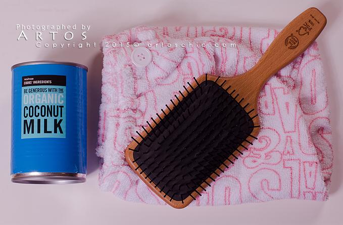 Coconut Milk Pre Poo ماسك الشعر بحليب جوز الهند لتطويل الشعر و تنعيمه