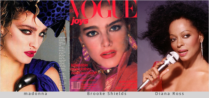 madonna-Brooke Shields- Diana Ross