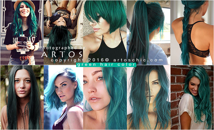 green-hair-color